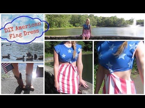 DIY American Flag Dress Or Beach Cover Up!