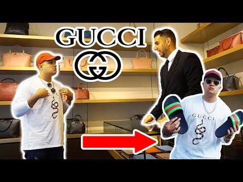 WEARING FAKE GUCCI TO THE GUCCI STORE!! GONE WRONG!!