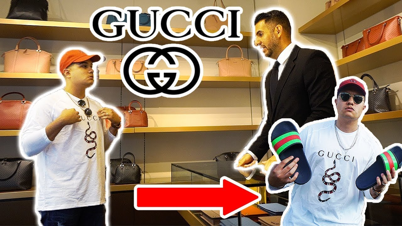 1833ceae1 WEARING FAKE GUCCI TO THE GUCCI STORE!! GONE WRONG!! - YouTube