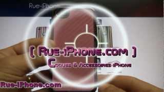 Coque iPhone 4 Carbone Fibre Charcoal Edition Luxe rose en vente sur Rue-iPhone.com