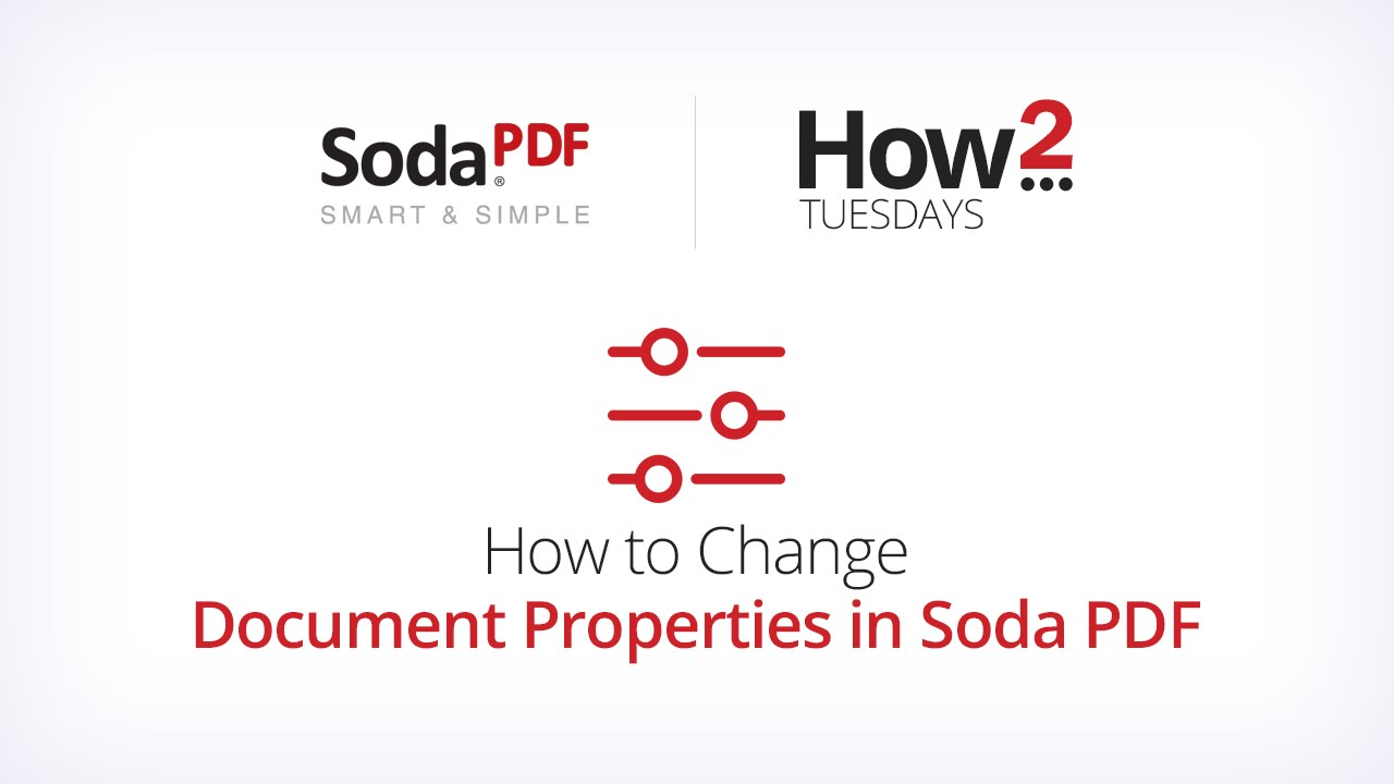 How To Change Document Properties In Soda Pdf Youtube
