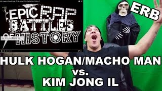 ERB. Hulk Hogan and Macho Man vs. Kim Jong-il - Epic Rap Battles ReAction