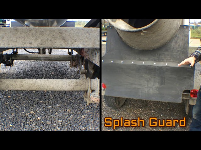 Cart-Away Splash Guard ending build-up