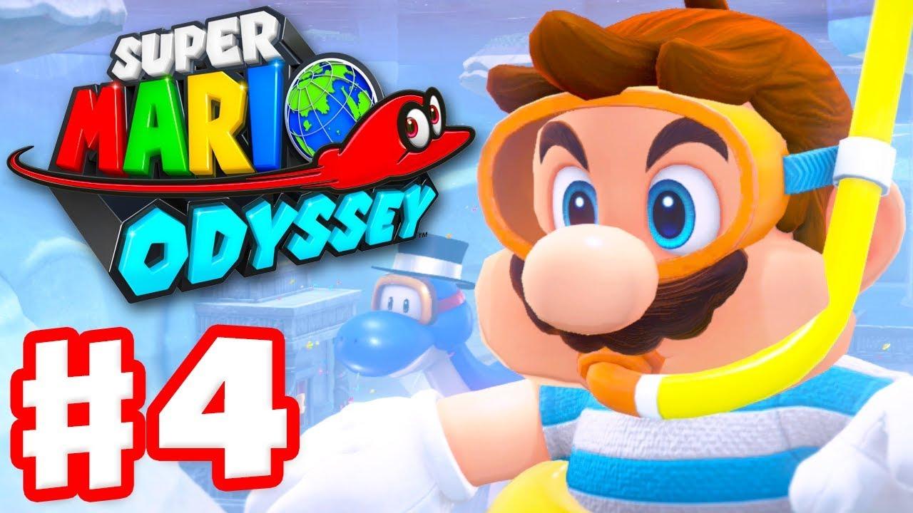 Super Mario Odyssey - Gameplay Walkthrough Part 4 - Lake Kingdom! (Nintendo  Switch)