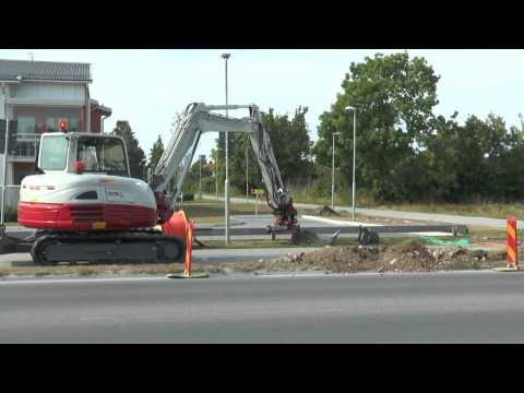 TAKE JOB TB 290 small excavator used for cable plowing outside Visby August 2015