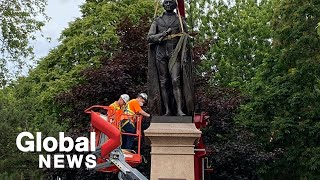 Sir John A. Macdonald statue removed from Kingston's City Park
