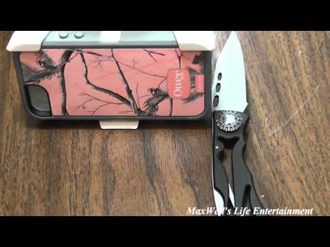 unboxing and installation of a pink real tree camo case iphone 5 5s maxwellsworld
