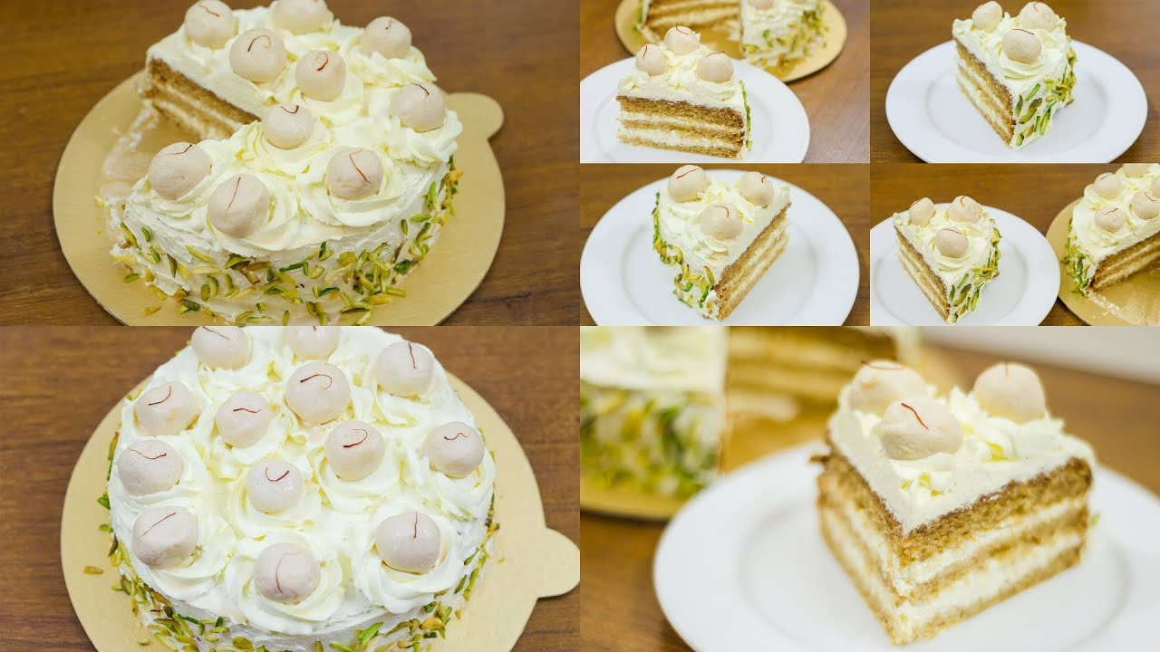 EGGLESS RASMALAI CAKE RECIPE l WITHOUT OVEN - YouTube