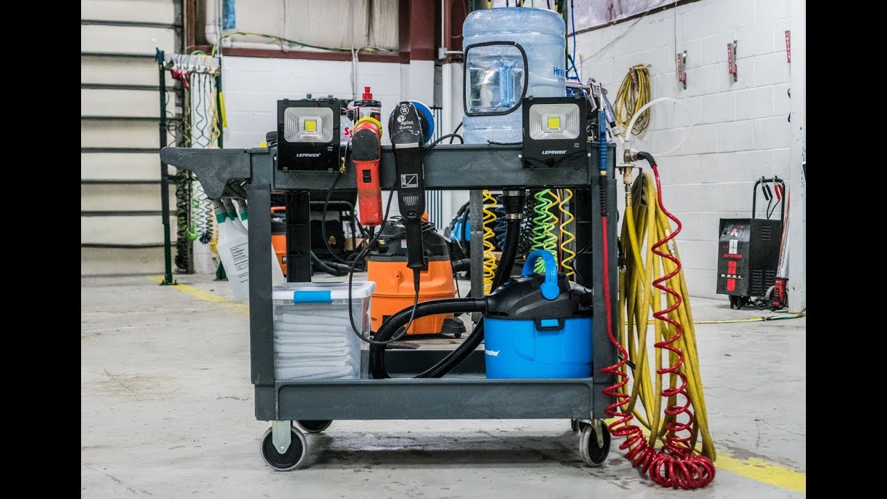 Paint Correction Cart With Dust Collection System Youtube