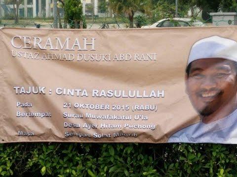 Ustaz Ahmad Dusuki: 'Cinta Rasulullah' - Surau Muwafakatul 'Ula, Desa Air Hitam - 21 Oktober 2015