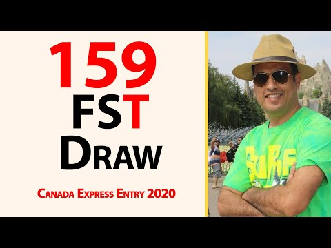 159 Federal Skill Trade Draw Of Canada Express Entry 2020 II Farhan Iqbal