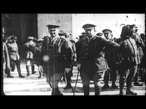British General Allenby preparing to enter Jerusalem during World War I HD Stock Footage