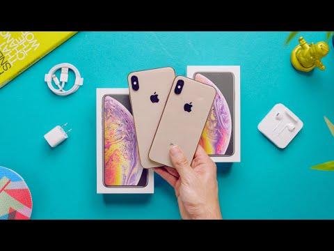 Gold iPhone XS Max vs XS Unboxing + Comparison!