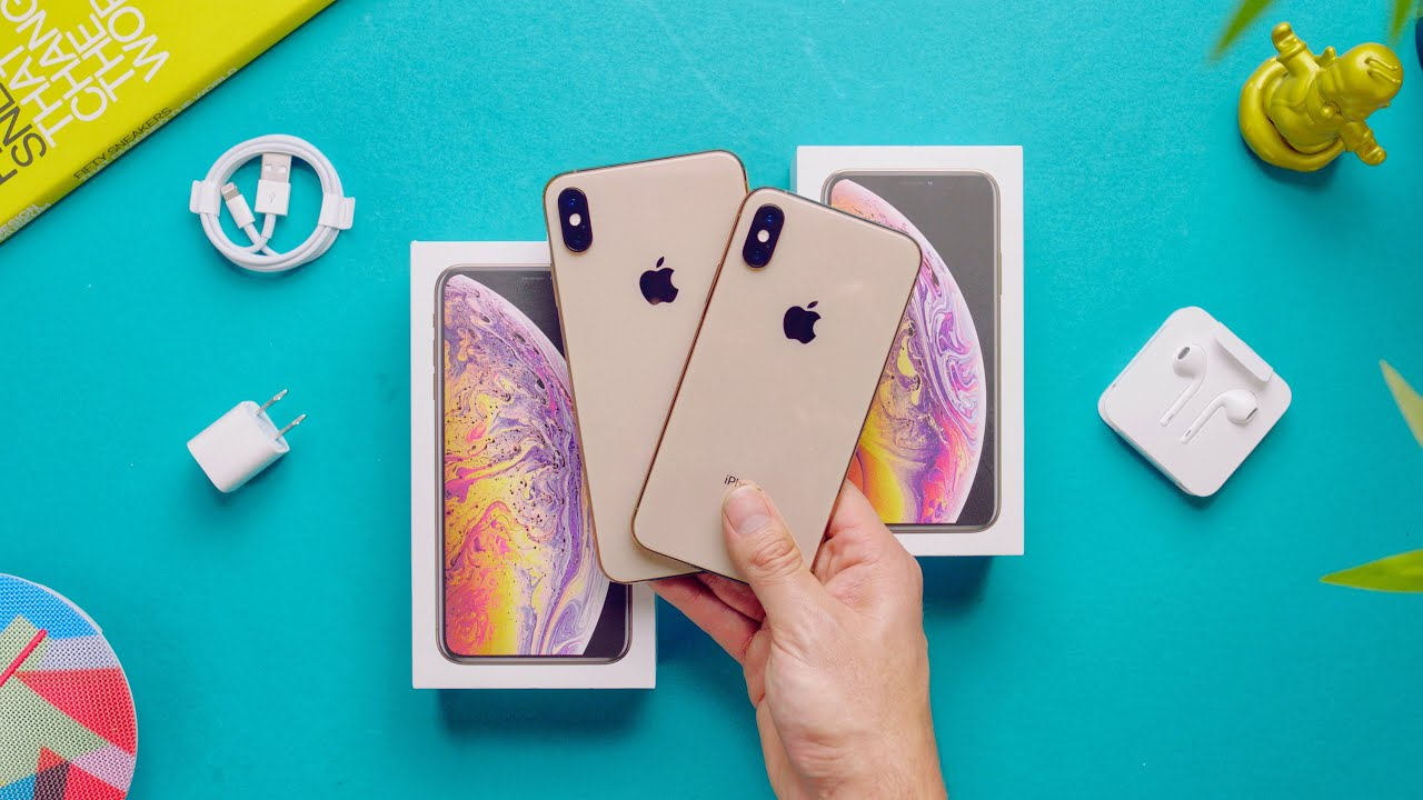 Gold Iphone Xs Max Vs Xs Unboxing Comparison Youtube