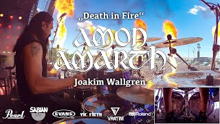 Скачать Jocke Wallgren Amon Amarth Death In Fire Live Rock Im Park 08 06 19 Drumcam