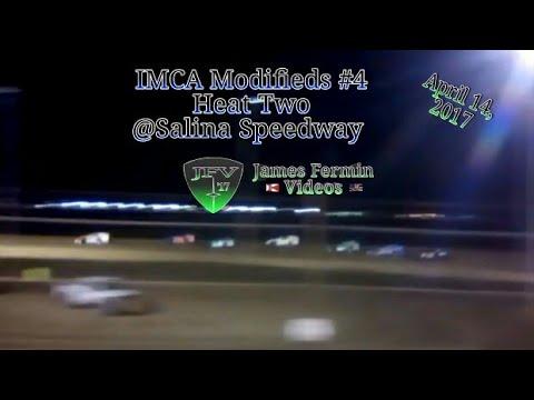 IMCA Modified #2, Heat, Salina Speedway, 2017
