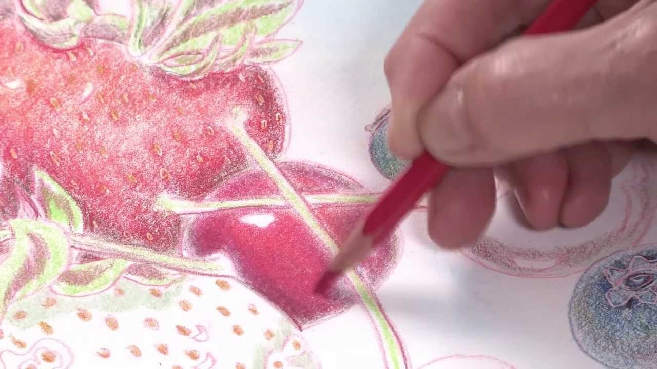 Colored Pencil Techniques: How to Paint Fruit - YouTube