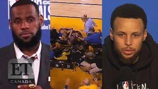 LeBron James, Warriors React To Mark Stevens' Kyle Lowry Push