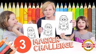 3 MARKER CHALLENGE z mamą - Flamastry i kredki Magic i Progresso, KOH-I-NOOR