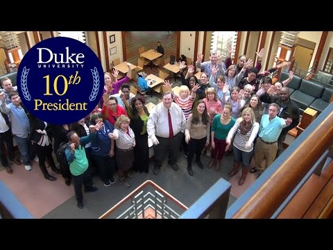 Welcome To Duke's 10th President from the Sanford School