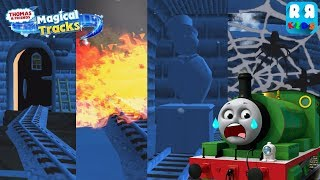 Scary place in haunted castle with scared Percy - Thomas and Friends: Magical Tracks