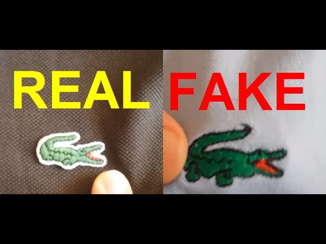 Real vs. fake Lacoste. How to spot fake Lacoste