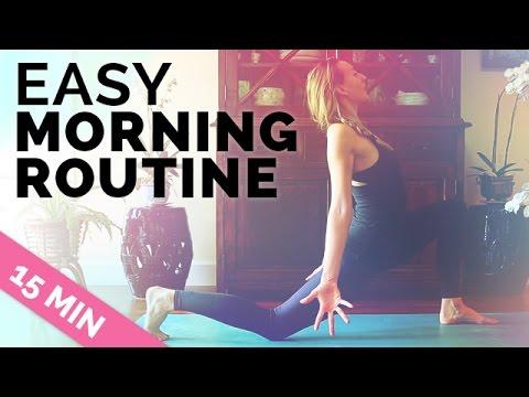 Easy Morning Yoga Meditation | 15 Min Yoga Before Work | Yoga for Beginners