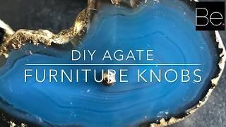 DIY Agate Drawer Pulls / knobs