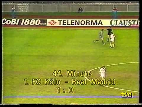 UEFA Cup 1985-86 FINAL 2nd Leg: Fc Köln x Real Madrid