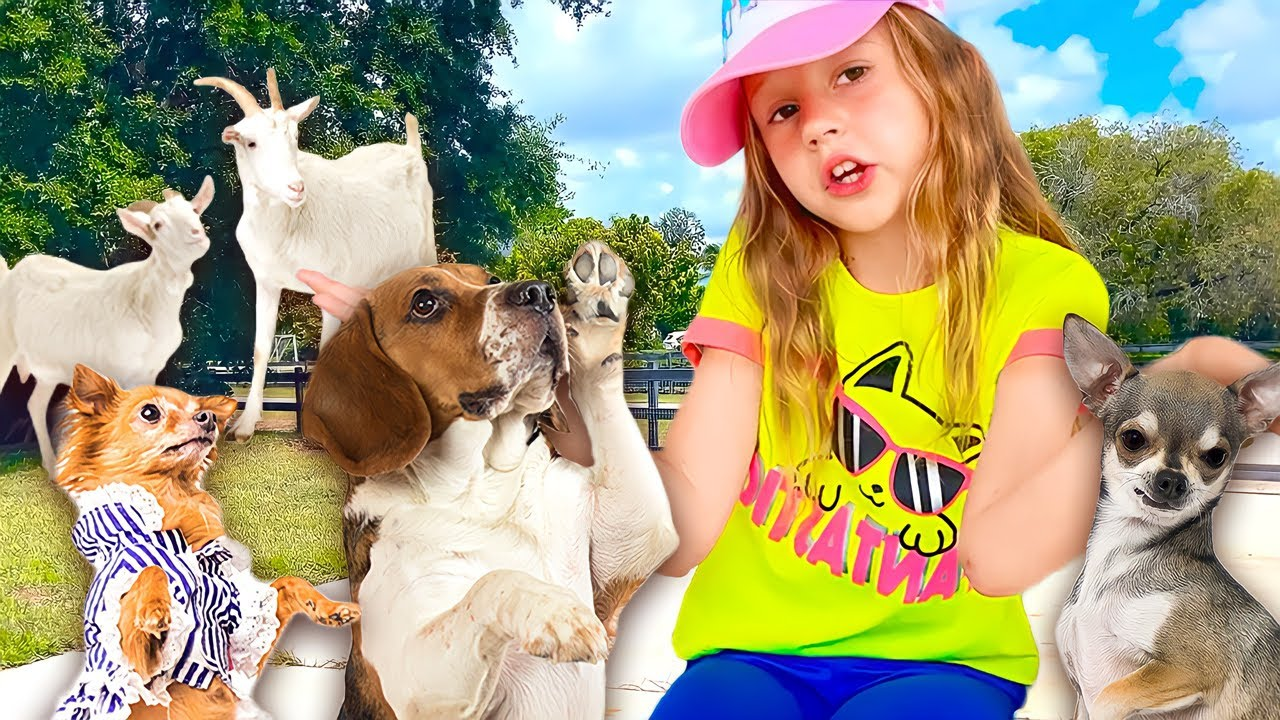 ناستيا وقصتها مع الحيوانات في مزرعة الجد