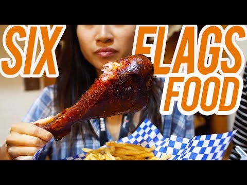 THE BEST 6 FOODS AT SIX FLAGS FRIGHT FEST w/ LeendaD // Fung Bros