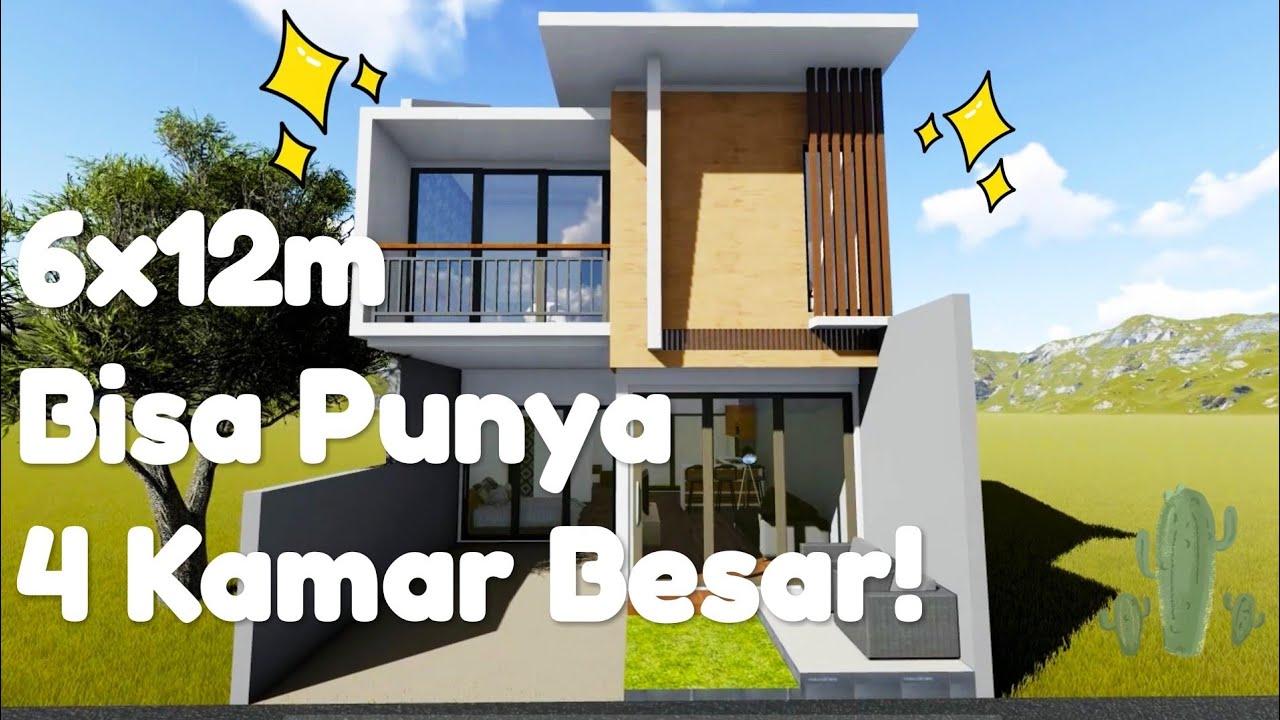 Small House With 4 Bedroom Desain Rumah Kecil Minimalis 2 Lantai Dengan 4 Kamar 6 X 12m Youtube