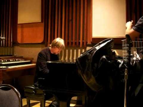Scott Ligon at the piano, Studio 3