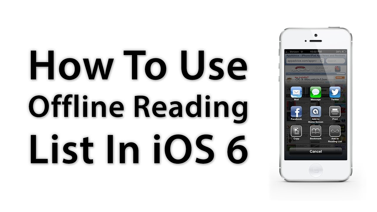 [ios Advice] How To Use Offline Reading List For Safari  New Features In  Ios 6