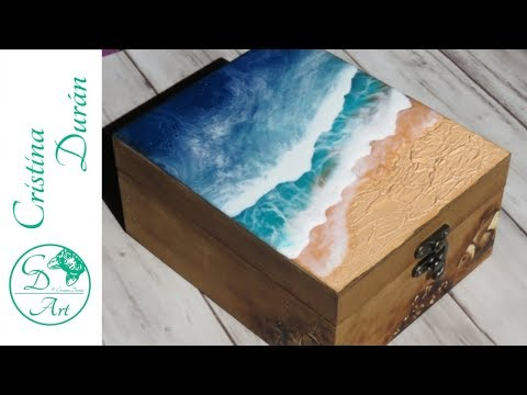 RESIN ART & PYROGRAPHY– Decorating a  wooden box