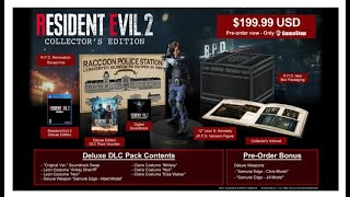 resident evil 2 collector's edition/kingdom hearts 3 deluxe edition