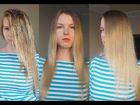 кератиновое выпрямление волос в домашних условиях видео