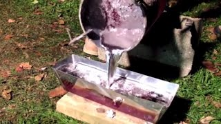 Melting Aluminum Cans into Ingot