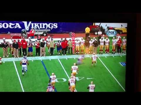 Chad Greenway sacks 49ers like a bullet