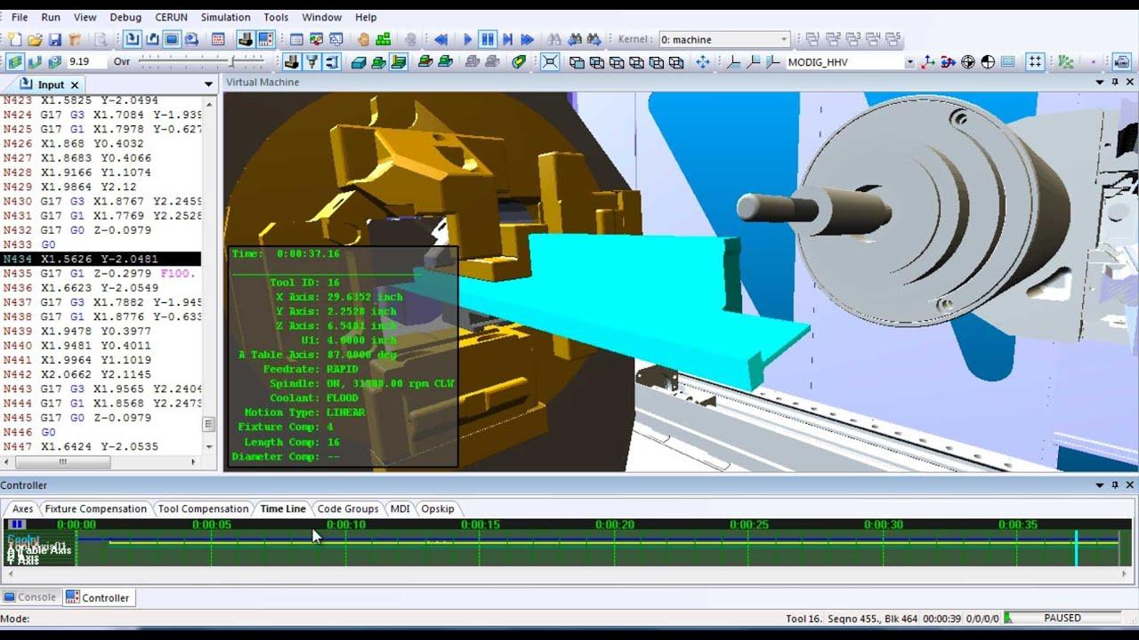 ICAM CNC Post-Processor & Simulator | MODIG HHV Extrusion Mill CNC