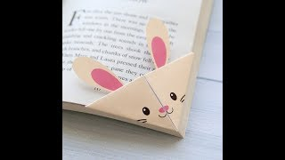 How to make easy paper bookmarks !