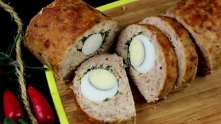 Вкуснейший Мясной Рулет с Яйцом