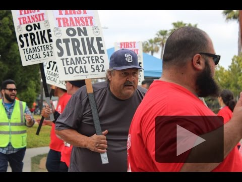 Striking San Diego transit workers speak about social conditions