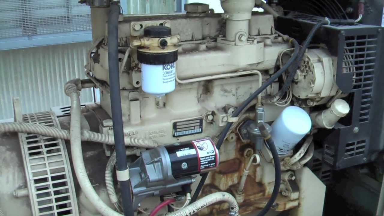 Generator Starter Solenoid Replacement and Load Test  YouTube