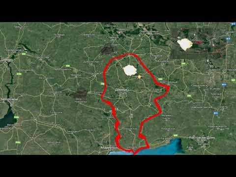 Карта ДНР от 17. 06. 19. Начало правления Зеленского.