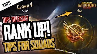 TIPS to EASILY Get HIGH RANK BY YOURSELF in PUBG Mobile Squads