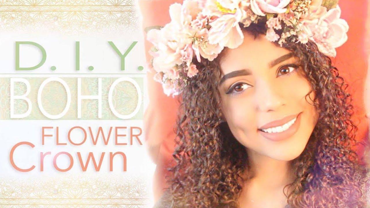 Diy boho flower crown coawixchella youtube diy boho flower crown coawixchella izmirmasajfo