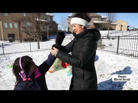 Omaha family builds igloo out of milk cartons