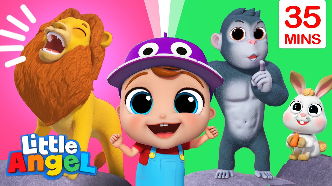 Sounds Animals Make | Baby John Sing Along | Little Angel Kids Songs And Nursery Rhymes