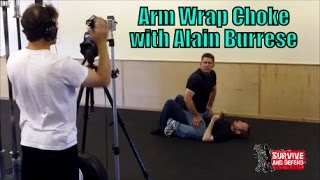 http://surviveanddefend.com/alain-burrese-dvds/ This clip is a behi...